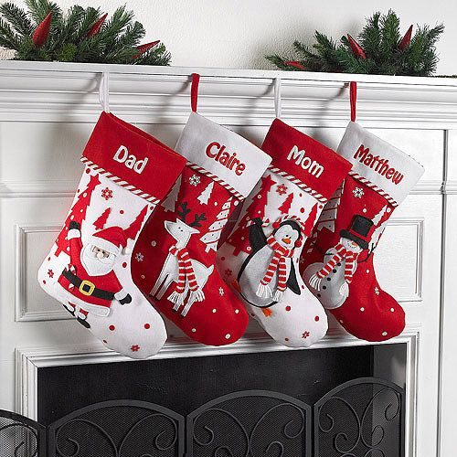 Personalized Candy Cane Character Christmas Stocking
