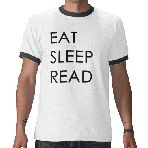 Eat, Sleep, Read Men's Tee Shirts