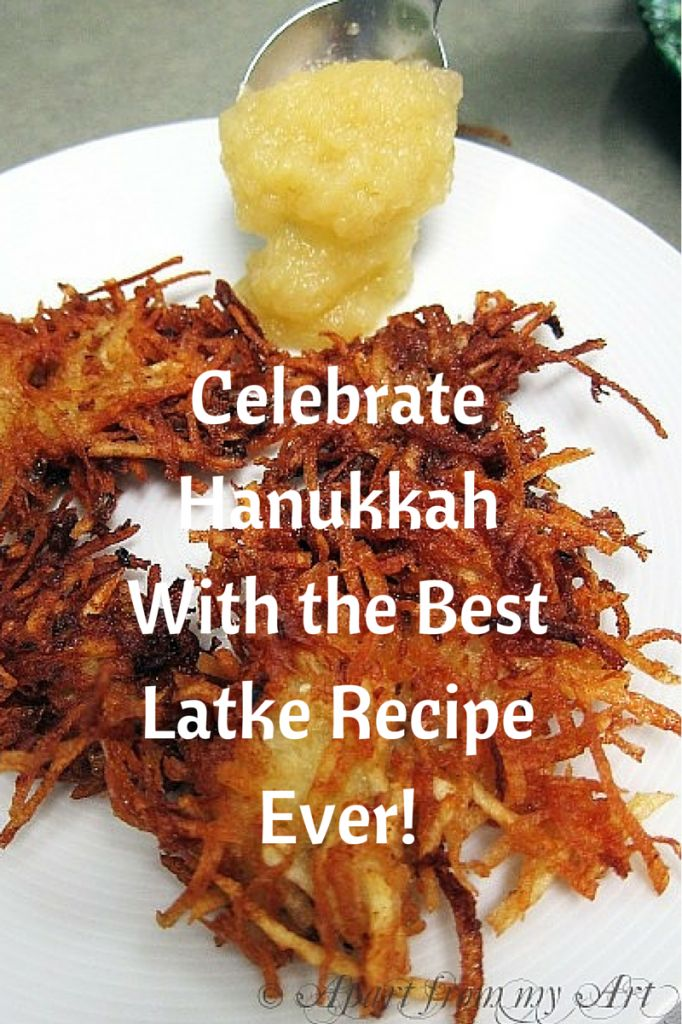 Latkes are as essential to Hanukkah as candy canes are to Christmas. Sandra Sallin shares her favorite latke recipe with us – and our mouths are watering just looking at the photos!