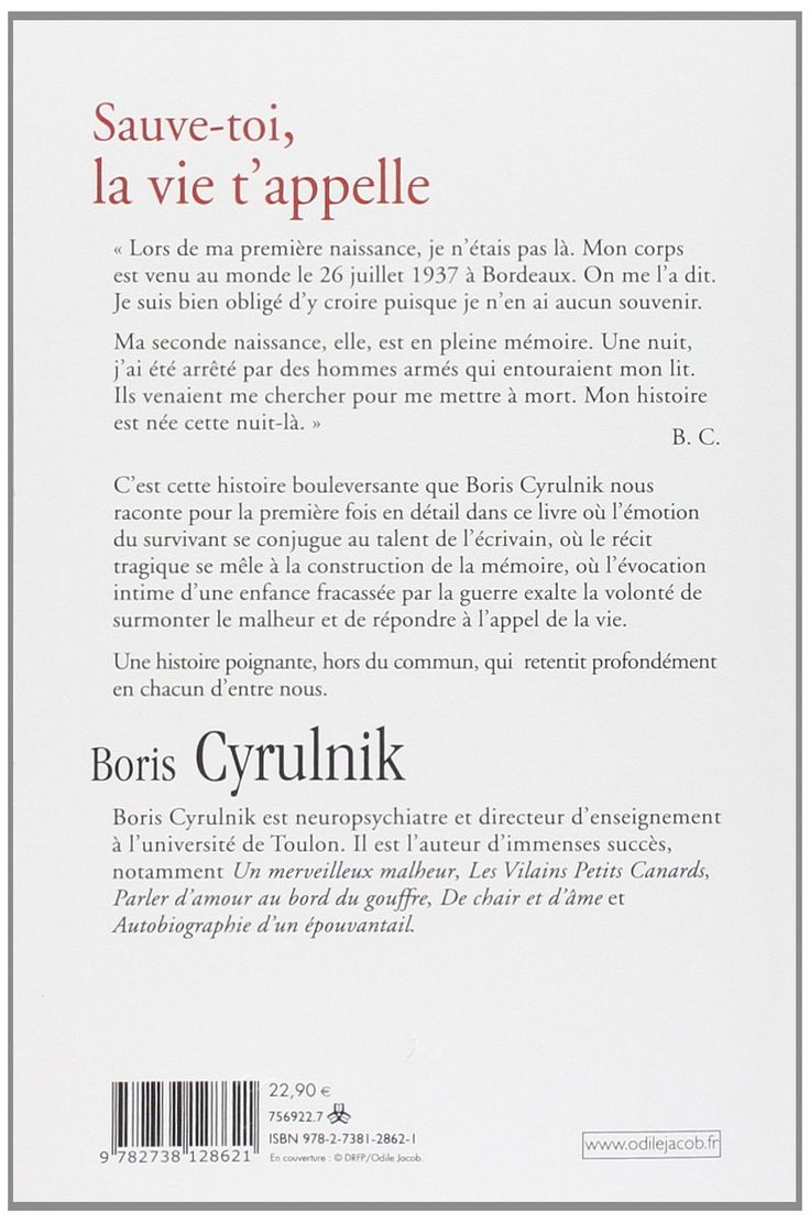 Amazon.fr - Sauve-toi, la vie t'appelle - Boris Cyrulnik - Livres