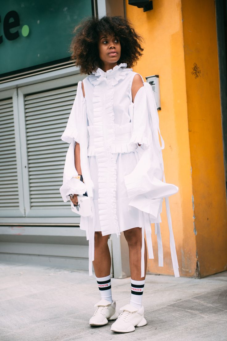 Jan-Michael Quammie   Milan Fashion Week 2016 Urania Gazelli Queen of Spades http://www.elleuk.com/fashion/what-to-wear/articles/g31086/milan-fashion-week-ss17-street-style-day-3/?slide=6