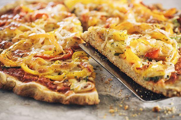 Barley Crust Sweet Pepper & Onion Pizza