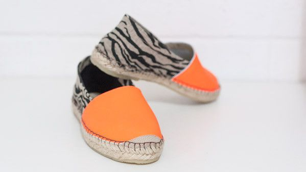 Espadrille, Zebra & Neon Orange - Now available at our online store. 7 day, 20% off online only at www.elizabaker.com.au with this code 21Nov. Ends 21st November 2013. love flat shoes espadrilles