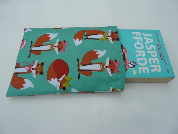 Fox Book Sleeve Paperback Book Sleeve Gift for Booklover