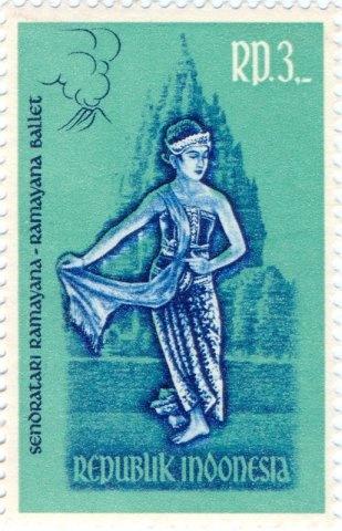 Indonesia - Ramayana ballet dancer as Dewi Sinta