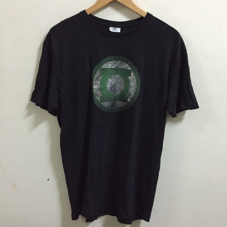 Green Lantern Justice League Mens T Shirt Black Green Graphic L DC Comics  | eBay