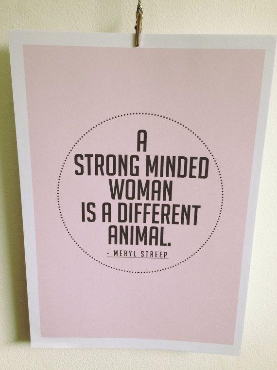 Meryl Streep Quote Art Print by bippityblush on Etsy