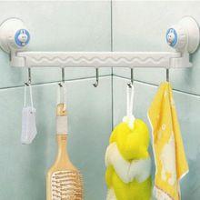 Аксессуары для ванной комнаты зубная щетка и держатель для полотенец 5 крюк сцепления большой Sunction Banheiro ванной в белом комплект бесплатная доставка(China (Mainland))