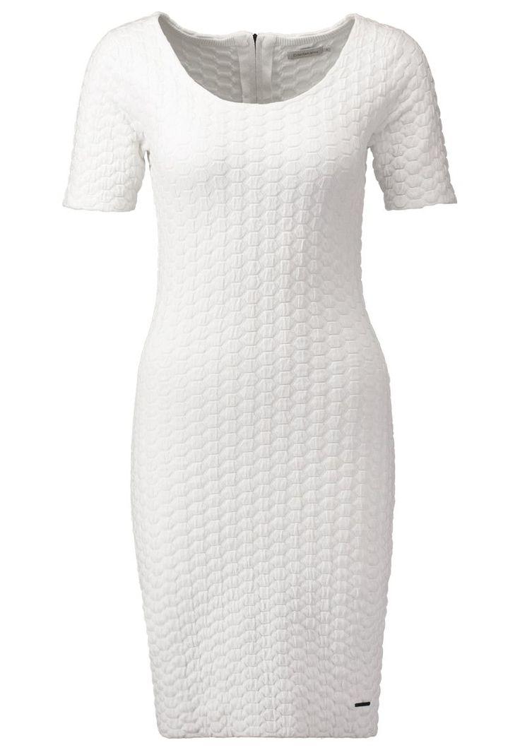Calvin Klein Jeans RORY Sukienka dzianinowa white