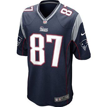 Nike NFL New England Patriots Rob Gronkowski American Football Game Jersey in Blue: Amazon.co.uk: Sports & Outdoors