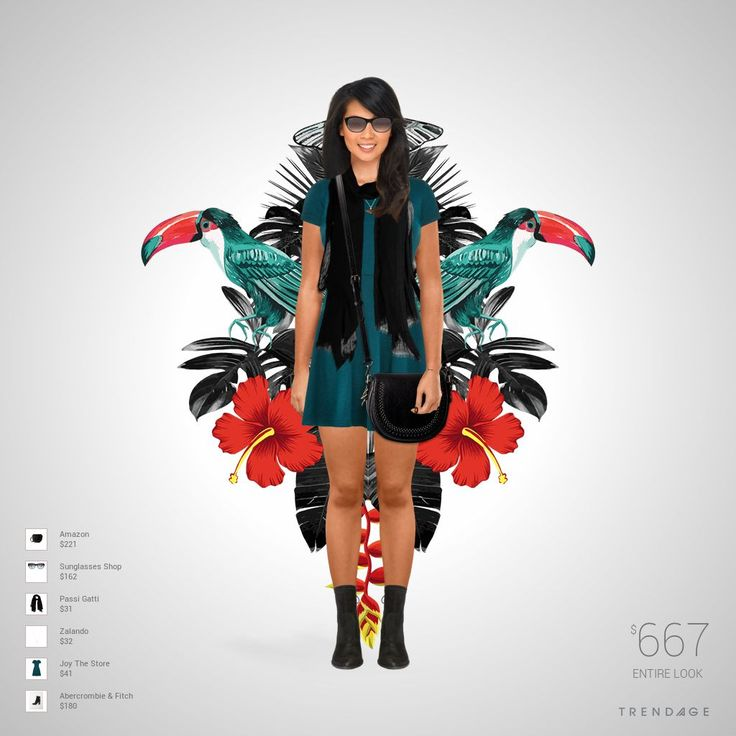 Fashion look with clothes from  Zalando, Passi Gatti, Sunglasses Shop, Joy The Store, Abercrombie & Fitch, Amazon.