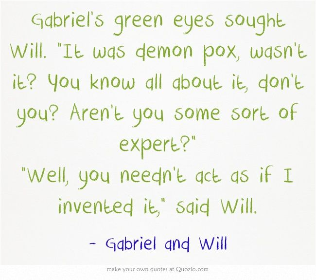The infernal devices | quotes | Gabriel and Will