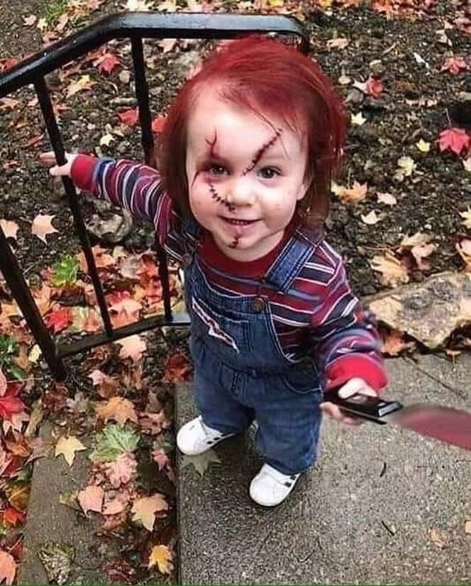Toddler Spooky Halloween Costume Chuckie Scary Kids Halloween Costumes Scary Kids Halloween Costumes For Kids