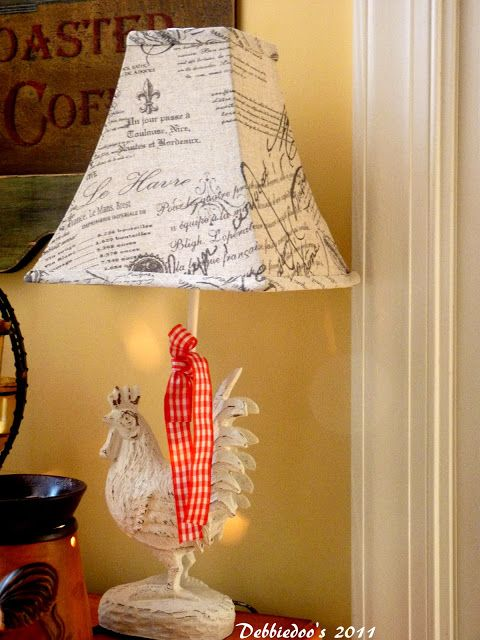 Rooster lamp! {French Country home decor} - Debbiedoo's