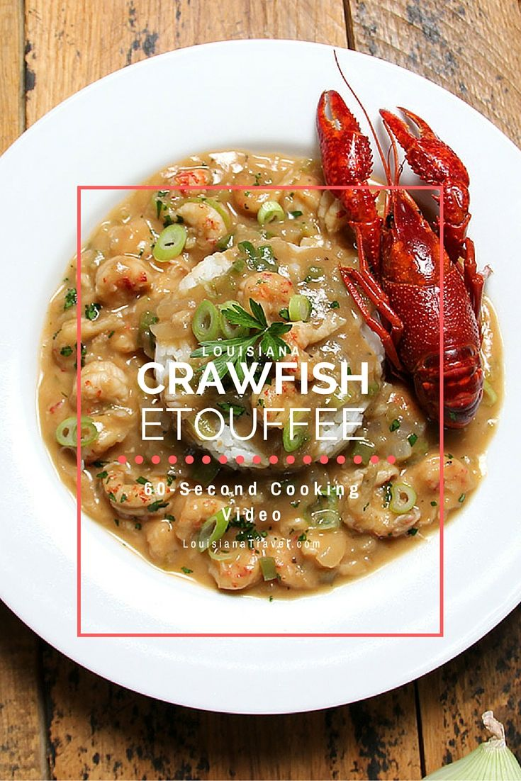 Get this recipe for Louisiana Crawfish Étouffée and watch the 60-second instructional cooking video! It tastes so good!