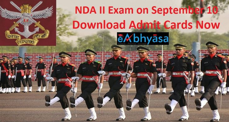 NDA II Exam on September 10: Download Admit Cards Now eAbhyasa  The National Defence Academy (#NDA) #Exam and Naval Academy Exam (II) 2017 will be held on #September 10, 2017 in 41 centres across the #country.  More Info: https://www.eabhyasa.com/notification/nda-ii-exam-on-september-10-download-admit-cards-now