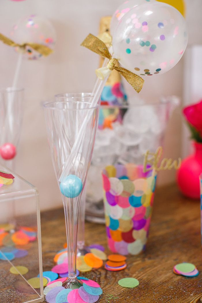 Confetti + Polka Dot Madness themed birthday party via Kara's Party Ideas | KarasPartyIdeas.com (27)