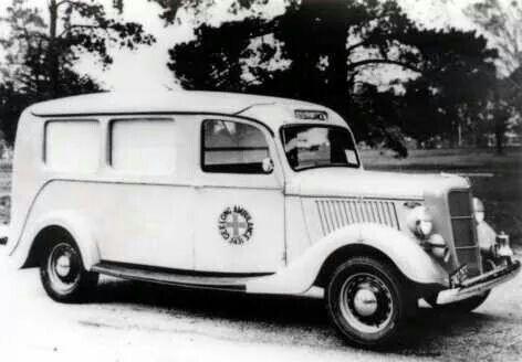 1939 old Ford ambulance. Geelong, Victoria Australia