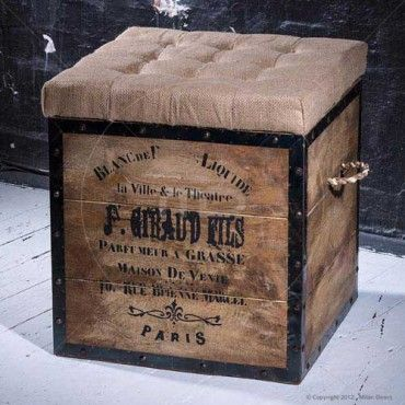 Industrial Ottoman - Box Chair - Buy Square Ottomans & Storage Ottomans - Milan Direct