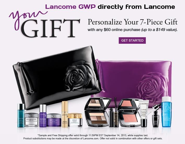 90 best Lancome Gift with Purchase images on Pinterest | Lancome ...