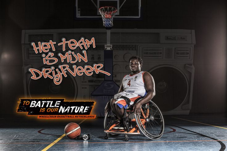 Sebastiao 'Pearl' Nijman - Wheelchair basketball Netherlands 'To battle is our nature' Rolstoelbasketbal http://www.greatmatch.nl/avada_portfolio/nbb-rolstoelbasketbal-to-battle-is-our-nature/?utm_content=buffer260aa&utm_medium=social&utm_source=pinterest.com&utm_campaign=buffer#prettyPhoto 'The team is my motivation'