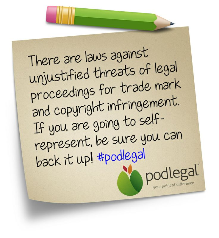 Take care when self-representing on trade mark and copyright infringement #copyright #trademarks #podlegal