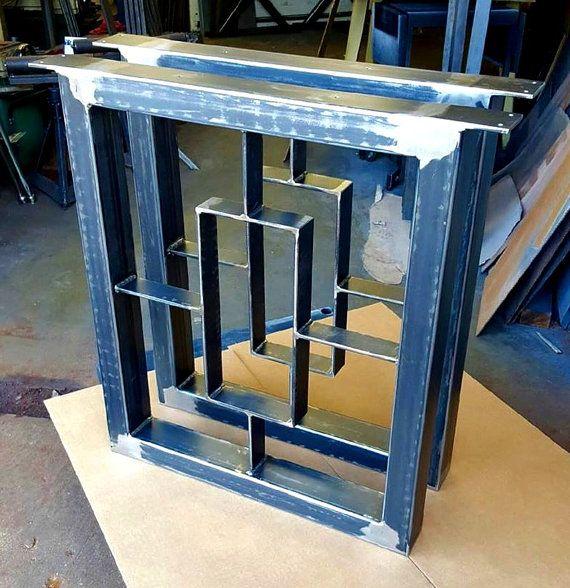 Modern Dining Table Legs Industrial Legs Set by MetalAndWoodDesign