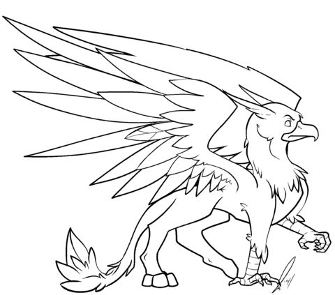 Griffin Coloring page from Griffin category. Select from ...