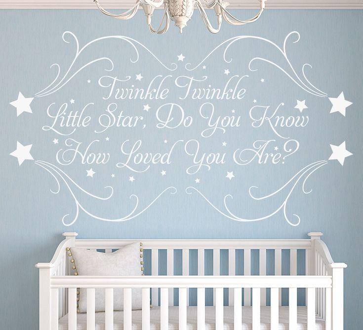 Twinkle Little Star Personalised Nursery Wall Sticker
