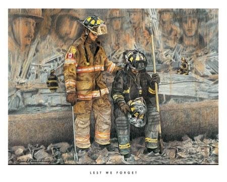 Firefighter Art - Firefighter Paintings - Firefighter Gifts