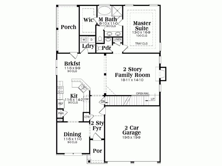 27 best house plans images on pinterest house floor What is wic in a floor plan