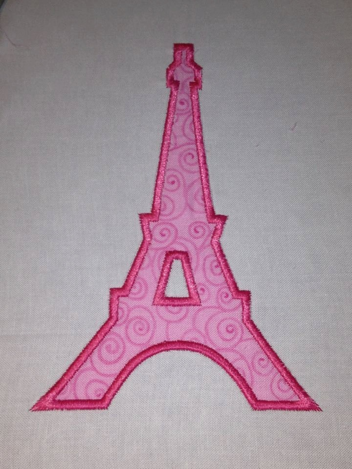 Eiffel Tower Applique Paris Embroidery Design French 2