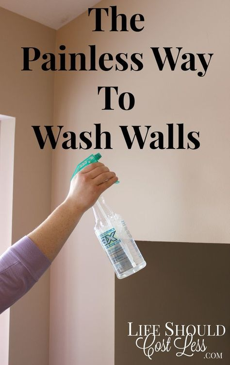 The Painless Way To Wash Walls. This time-saving tip will save you a ton of time AND headache. It's especially helpful if you have tall walls or vaulted ceilings. {lifeshouldcostless.com}