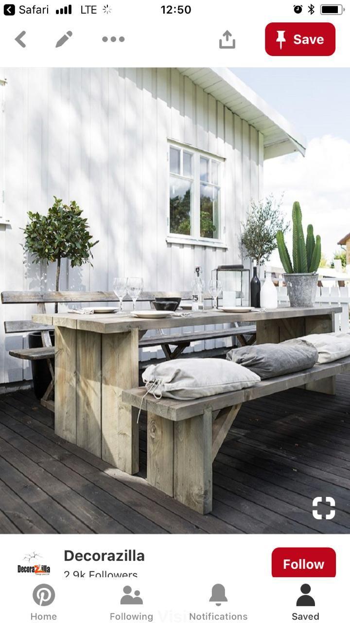 Tavolo Rustico Per Esterno.Pin Di Carmen Giordano Su Giardini Arredamento Veranda Cortile
