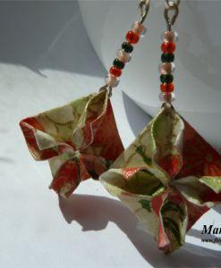 Diamonds, origami earrings.