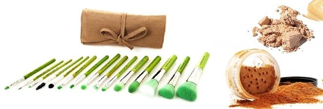 Bdellium Tools Green Bambu Fırça - Gurunzi 4, 5, 15 parça çeşitleriyle