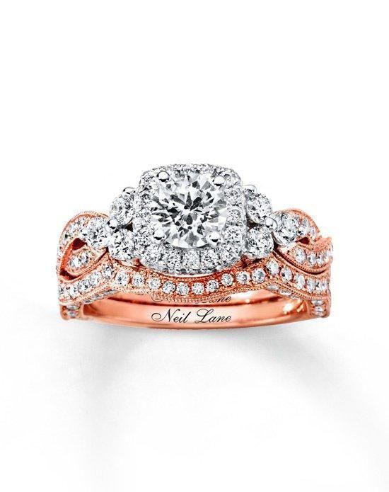 rose gold antique wedding engagement ring set - Google Search