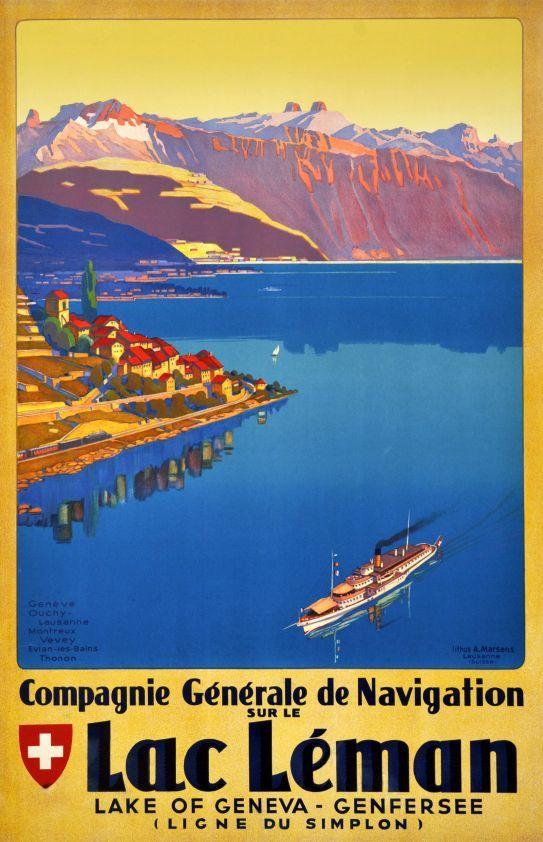 Compagnie Générale de Navigation sur le Lac Léman Johannes Emil Muller 1935