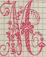 Ancient old cross stitch alphabet (12)