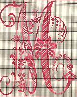 Ancient old cross stitch alphabet (12)
