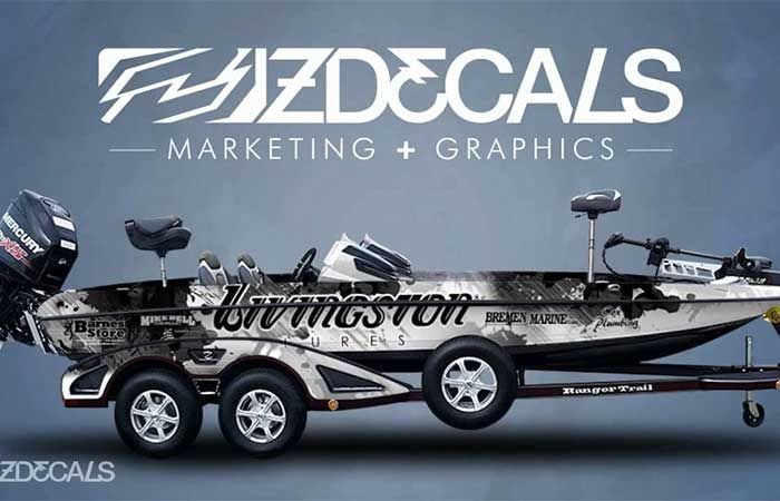 Another Z Decals idea | Bass Boat Wraps | Boat wraps, Bass boat
