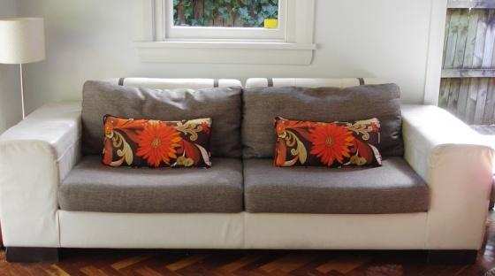 Fabulous Vintage cushions in situ, Sydney