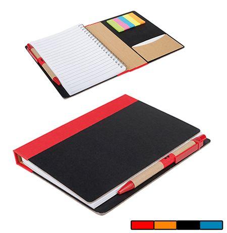 Libreta Eco marcadores. Con tapas de cartón 30% reciclado. Marcadores de colores. Desde 1,92 € en www.areadifusion.com