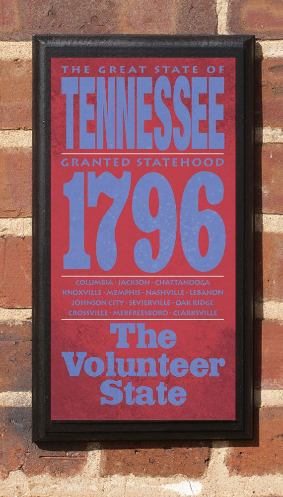 tennesee tn wall art sign plaque gift present home decor vintage style memphis knoxville. Black Bedroom Furniture Sets. Home Design Ideas