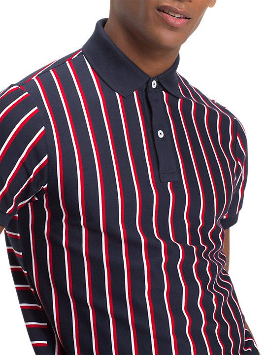 a9851a5f621 Tommy Hilfiger Vertical Stripe Polo Shirt, Sky Captain/Multi | t ...
