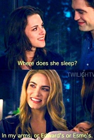 ok if you read the books, does anyone else think rosalie should stop hogging renesmee? its not even like its her kid. back off lol