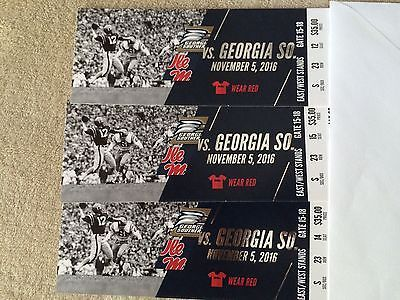 #tickets (3) Georgia Southern at Ole Miss Football Tickets, Saturday, November 5th please retweet