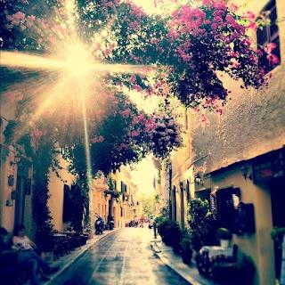 Side-street in Plaka, Athens, Greece.