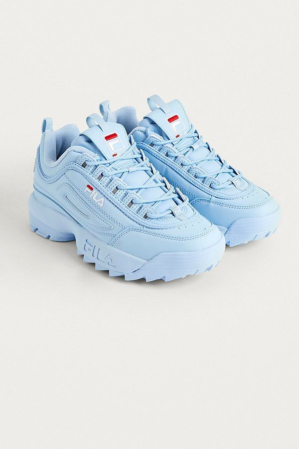 FILA Disruptor Baby Blue Trainers | shoes i want in 2019