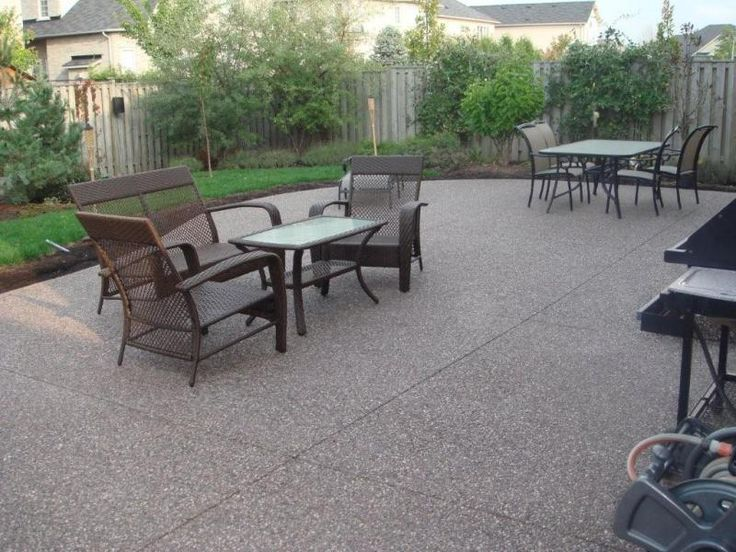 best 25+ exposed aggregate ideas on pinterest | pergola carport ... - Backyard Concrete Patio Ideas